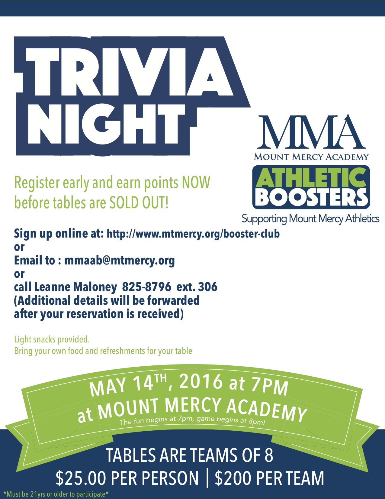Mount Mercy Academy To Host Trivia Night Event Buffalo Scoop