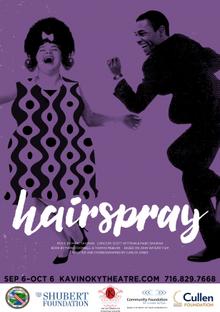 The Kavinoky Theatre celebrates its 40th anniversary season with the smash hit musical comedy Hairspray.