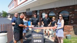 A ribbon-cutting ceremony was held at the Queen City Meadery tasting room on Aug. 3.