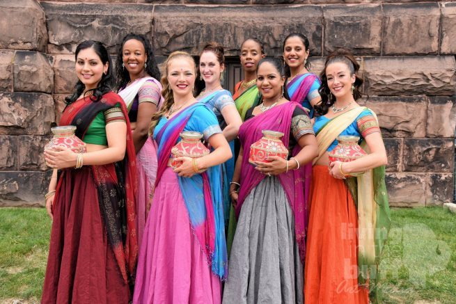 The dancers of Devi Bollywood Performing Arts are currently in rehearsal for this performance.