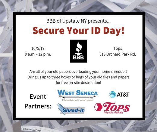 Community members are welcome to bring up to three boxes or bags of documents for free on-site shredding.