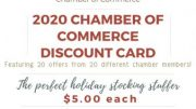 Featuring 20 offers from local businesses and priced at just $5 each, the plastic cards — the size of a credit card — will be very useful as holiday stocking stuffers and small gifts.
