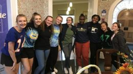 Mercy students at Ronald McDonald House.