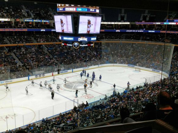 One lucky winner will receive four 100-level tickets to the Buffalo Sabres-Florida Panthers game at 7 p.m. Saturday, Jan. 4, 2020, at KeyBank Center in downtown Buffalo, plus $100 to spend at the arena!