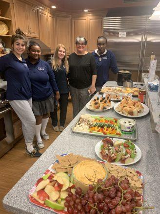 Mount Mercy Academy students at Ronald McDonald House.