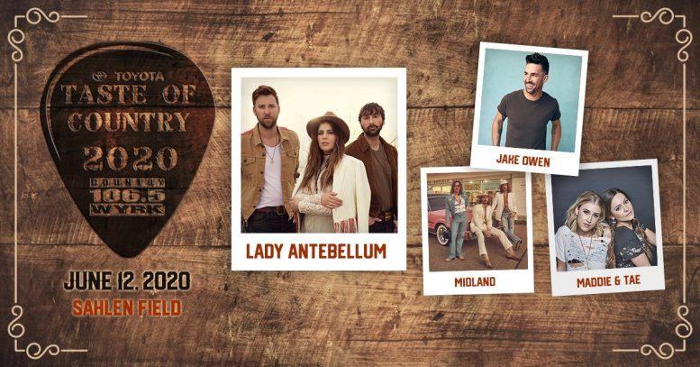 taste of country music festival 2020
