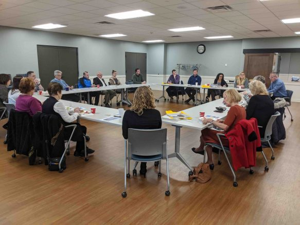 Two dozen local business leaders attended the first breakfast meeting in January.