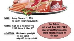 The event will include 14 raffles consisting of 69 drawings for steak, shrimp, ham, chicken and more!