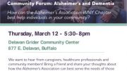 Care consultants from the Alzheimer's Association will be available for questions and answers, and to provide information about all the programs and services offered by the Chapter