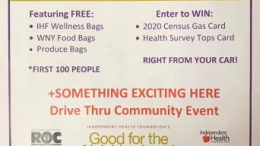 Drive-through participants will receive free Independent Health Foundation Wellness Bags, and well as donated food and produce bags courtesy of the event sponsors.