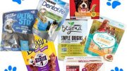 Dog totes are filled with treats from the Purina plant in Dunkirk.