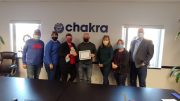 The award for Chamber Member of the Year goes to Chakra!