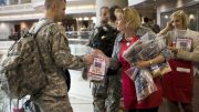 Care packages filled with treats and reminders of home let troops know that friends, family and the American people are thinking of them. © USO Photos